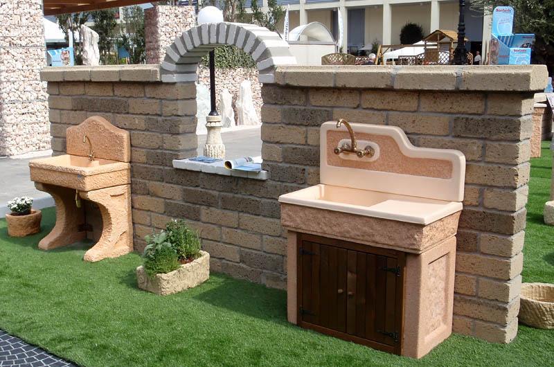 Arredo giardino arredi per esterni giardini manutenzione piscine vendita barbecue planet - Lavandini da esterno ...